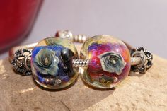 Large hole European style beads, Big size bead, Butterfly Lampwork Glass Art Bead by TaniaTank on Etsy