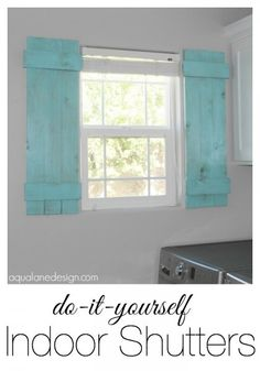 Diy shutter chalkboard blue window treatments pinterest diy diy indoor shutters so doing this on my front porch solutioingenieria Gallery