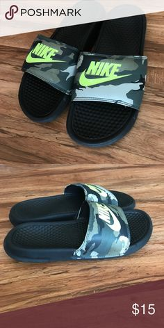 Nike Slides Camo/black Nike Slides- men's size 8. Good used condition Nike Shoes Sandals & Flip-Flops
