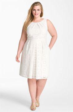 Adrianna Papell Crochet Sleeveless Dress (Plus) - but not in white.