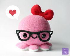 Pink Valentine Octopus No.1 by yumcha.deviantart.com on @deviantART
