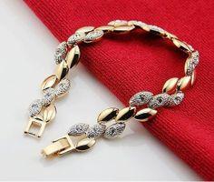 VALEN BELA Chain Link Bracelet Women screw gold bracelet crystal pulseiras femininas New 2017 Accessorios para mulher Slap Bracelets, Link Bracelets, Jewelry Bracelets, Diamond Bracelets, Jewelry Sets, Gold Jewelry, Women Jewelry, Fashion Jewelry, Jewlery