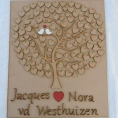 Beautiful lasercut guest tree for your guests to sign the leaves of the tree so that you will always remember your loved ones who attended your wedding
