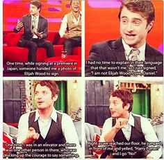 Daniel radcliffe sings the elements song nerd alert pinterest daniel radcliffe and elijah woodeven though i have never thought they look alike this still made me laugh urtaz Image collections