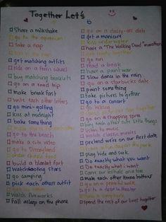 Glitter Magic 25 Fun Things To Do With Your Boyfriend Girlfriend