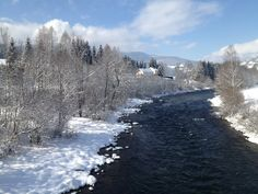 The adjacent river