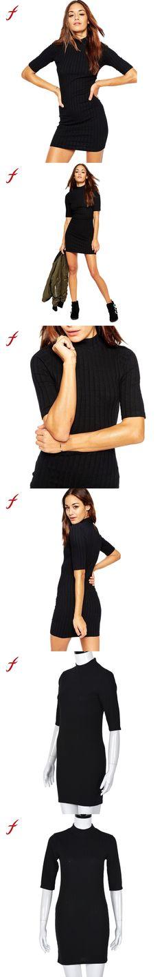Women Dress Fashion Casual Half Sleeve Dress Women Turtleneck Party Short Mini Dress 2017 New Fashion Dress Plus Size