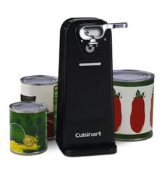 Electric Can Opener Kitchen Counter Precise Blade Easy Single Touch NEW #Cuisinart