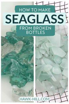 Sea Crafts, Sea Glass Crafts, Seashell Crafts, Diy Arts And Crafts, Glass Bottle Crafts, Sea Glass Beach, Sea Glass Art, Stained Glass Art, Sea Glass Jewelry