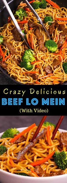 This Garlic Beef Lo Mein is a quick and easy version of classic Chinese dish Its so much better than takeout and seriously addictive with tangy garlic and soy s. Recipes With Hoisin Sauce, Sauce Hoisin, Stir Fry Recipes, Beef Recipes, Cooking Recipes, Hoisin Beef Recipe, Cheap Recipes, Recipies, Recipes