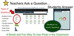 7 Ways to Creatively Ask Questions in the Classroom Using iPads!