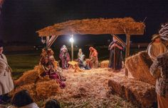 Nativity Scene at Canyon Hills by Wayne Wong on Capture Kern County // Found this shot from 2007...and oldie but goodie.  I remember it was very cold that night...  Full size image on Flickr<>a/>