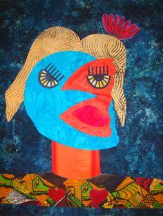Homage to Picasso  Original Designs by Artist S. Roswess Art Quilt Interpretation by Artist - J. Stephens