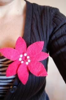 DIY Brooch DIY Poinsettia Flower brooch DIY Brooch