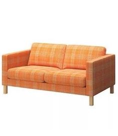 Superieur IKEA   KARLSTAD, Cover Two Seat Sofa, Husie Orange.
