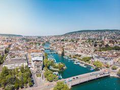 Schweiz Reisetipp: Zürich Bürkliplatz Altstadt Reisen In Europa, Zurich, City Life, Im In Love, Alps, Travel Destinations, Beautiful Places, Tours, Camping