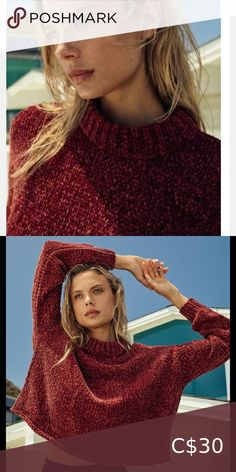 🆕 Red urban outfitters sweater Chunky knit sweater from Urban Outfitters made from an ultra-soft chenille knit. Cut in a classic pullover design with a relaxed, boxy fit. Complete with ribbed banding at the cuffs and mock neck.  Content + Care - Polyester - Hand wash - Imported  Size XS Urban Outfitters Sweaters Pullover Designs, Urban Outfitters Sweaters, Plus Fashion, Fashion Tips, Fashion Trends, Mock Neck, Cuffs, Fitness Models, Sweaters For Women