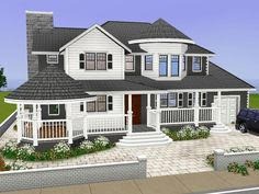 Denah Rumah 806988826959556702 - Large family Villa with 2 floors. Found in TSR Category 'Sims 3 Residential Lots' Source by zwirykc Sims 2 House, Sims 4 House Building, Sims 4 House Design, Sims 3 Houses Plans, Sims 3 Houses Ideas, House Plans, Sims Ideas, Casas The Sims 4, Sims 4 Build