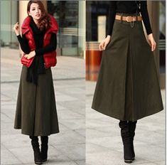 Long skirt w/ boots | Style | Pinterest | Clothes, Modest outfits ...