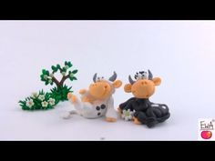 ▶ LET'S CLAY! COW - polymer clay tutorial KRÓWKA z modeliny - YouTube