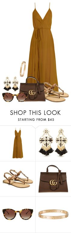 """""""Summer evening on the patio"""" by borntoread ❤ liked on Polyvore featuring Loup Charmant, Kate Spade, Gucci, Thierry Lasry and Cartier"""