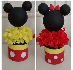 Minnie and Mickey centerpiece