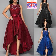 Buy 3 Colors Summer Vogue Sexy High Waist Belted Lace Panel Maxi Dress Solid Color Women Summer Sleeveless Dresses at Wish - Shopping Made Fun Lace Bridesmaids, Long Bridesmaid Dresses, Long Prom Gowns, Evening Dresses, Formal Dresses For Weddings, Party Gowns, Beautiful Outfits, Plus Size Fashion, Lace Dress