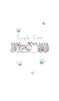 cat wallpaper Simple A variety of cats. LINE theme Cat Phone Wallpaper, Cute Cat Wallpaper, Cute Patterns Wallpaper, Kawaii Wallpaper, Cute Wallpaper Backgrounds, Pretty Wallpapers, Cute Cartoon Wallpapers, Galaxy Wallpaper, Cute Animal Drawings