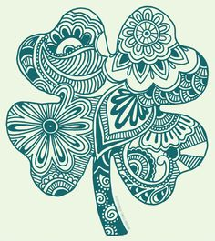 This is kinda cool ... maybe a smaller, more delicate design inside the clover? Hmmm.... @emileesizemore