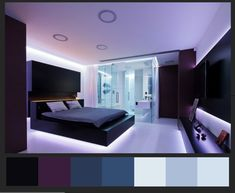 Purple bedroom walls ideas purple and orange decorating ideas violet bedroom walls decorating bedroom purple purple Violet Bedroom Walls, Teal Bedroom Decor, Purple Bedrooms, Gray Bedroom, Bedroom Colors, Modern Bedroom, Bedroom Ideas, Bedroom Lamps, Minimalist Bedroom
