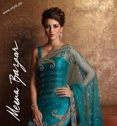 Gorgeous #Saree by http://www.meenabazaar.in/mbuser/ Perfect for occasions like #Wedding Reception