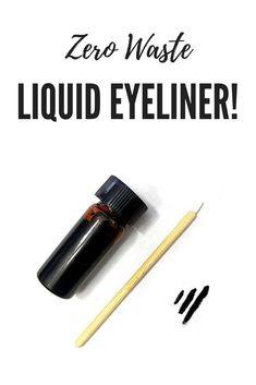 Zero waste, low plastic liquid eyeliner!