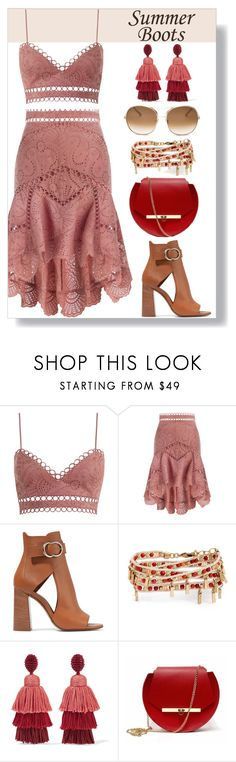 """""""Country Chic"""" by keepfashion92 ❤ liked on Polyvore featuring Zimmermann, Chloé, Treasure & Bond, Oscar de la Renta, Angela Valentine Handbags and country"""