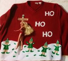 This is Greg's next Ugly Sweater for christmas. I usually hate ugly Christmas sweaters, but this one is hilarious! Naughty Christmas Sweater, Funny Christmas Sweaters, Christmas Humor, Christmas Fun, Xmas Sweaters, Inappropriate Christmas Sweaters, Diy Christmas Outfits, Womens Ugly Christmas Sweater, Tacky Christmas Outfit