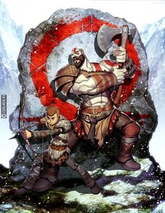 Anyone been replaying the past God of War games to catch up for the new one? God of War by GENZOMAN Kratos God Of War, Geeks, King's Quest, Game Character, Character Design, God Of War Game, God Of War Series, Conceptual Drawing, Poses References