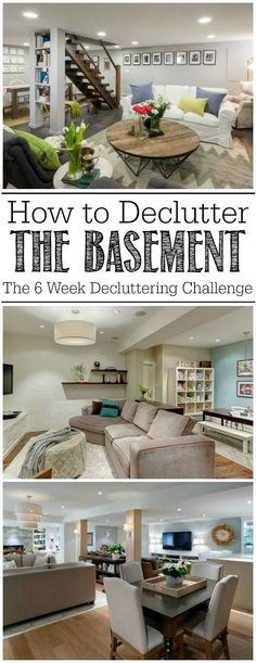Great ideas for decluttering the basement!  On my to do list!