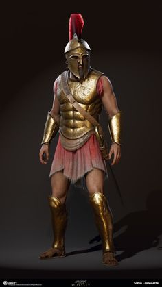 Gauntlets and breastplate for Triton Arte Assassins Creed, Assassins Creed Odyssey, Greek History, Ancient History, Soldado Universal, Soldier Tattoo, Greek Soldier, Female Soldier, Soldier Costume