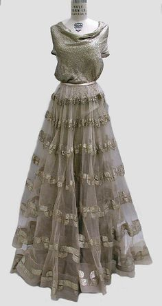 Vionnet Dress - FW 1938-39 - by Madeleine Vionnet (French, 1876-1975) - Metallic thread