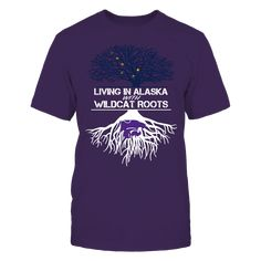 Kansas State Wildcats - Living Roots Alaska T-Shirt, TIP: If you buy 2 or more (hint: make a gift for someone or team up) you'll save quite a lot on shipping.  Click the GREEN BUTTON, select your size and style.  The Kansas State Wildcats Collection, OFFICIAL MERCHANDISE  Available Products:          Gildan Unisex T-Shirt - $24.95 Gildan Women's T-Shirt - $26.95 District Men's Premium T-Shirt - $27.95 District Women's Premium T-Shirt - $29.95 Next Level Women's Premium Racerback Tank…