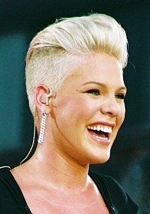 Music Celebrity Pink Short FauxHawk Hair Style