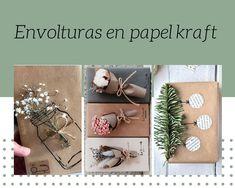 Ideas en papel kraft para regalar en Navidad Ideas, Banners, Easy Crafts, The Originals, Xmas, Thoughts