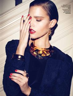 Kim Cloutier Bathes in Baubles by Max Abadian for LuxureMagazine