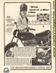 1968 Rickman Metisse Motorcycle Scrambler Chassis / Kits