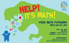 Help! It's Math! Free math tutoring in PAC 200 at #LSCKingwood