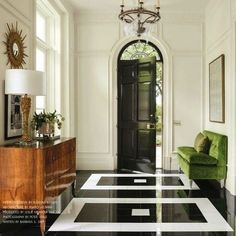 I love every.single.thing about this fabulous foyer designed by the uber talented @suzannekasler via @milieumag...perfection! #foyer #instagood #instalike #interior #interiordesign #interiors #photooftheday #instadaily #marble #marblefloors #gre