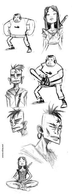 Character Design by Vincent Roché, via Behance