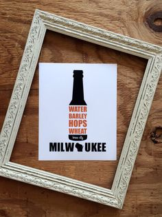 8 x 10 Milwaukee Beer Poster / Brew City Wisconsin by BEtimeless