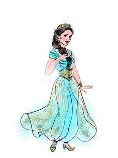 Jasmine Aladdin Live Action Art by Guto Disney collector ( Naomi Scott) Princess Jasmine Art, Aladdin Et Jasmine, Disney Jasmine, Arte Aladdin, Aladdin Live, Arte Disney, Disney Fan Art, Rapunzel Eugene, Disney Live