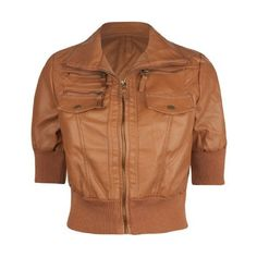 FULL TILT Vegan Faux Leather Womens Jacket: Clothing ($25) ❤ liked on Polyvore featuring outerwear, jackets, fake leather jacket, full tilt, full tilt jacket, brown faux leather jacket and brown jacket
