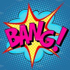text Bang pop art Graphics text Bang pop art retro style comic itemSet contains: - one JPG file pixels - o by studiostoks Graffiti Art, Comic Art, Comic Kunst, Comic Books Art, Pop Art Drawing, Art Drawings, Design Pop Art, Portraits Pop Art, Illustration Pop Art